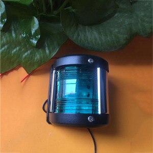 Image 2 - LED Deniz navigasyon ışığı su geçirmez tekne zemini Taraflı Kırmızı Yeşil Yay Hafif Yelken Sinyal Lambası 12 V