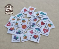 96 Custom Logo Labels Children S Clothing Tags Name Tags White Organic Cotton Labels Nature And