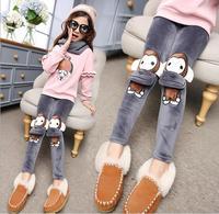 2017 niños de invierno ropa niñas leggings moda flaco espesar fleece baby girl leggings para niñas niños pantalones largos