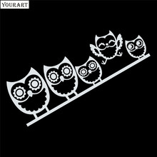 hot deal buy yourart family car sticker vinyl cute owl funny styling car stickers and decals animal stickers for car decoration window bumper