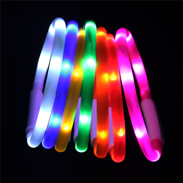 USB Rechargeable Night Flashing Dog Collar 1