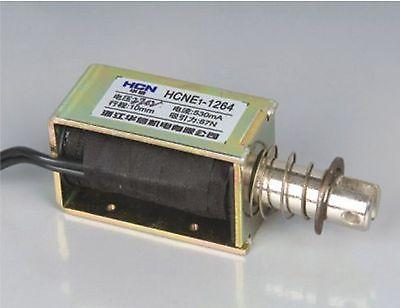 24V Pull Hold/Release 10mm Stroke 7.4Kg Force Electromagnet Solenoid Actuator 24v pull hold release 10mm stroke 6 3kg force electromagnet solenoid actuator