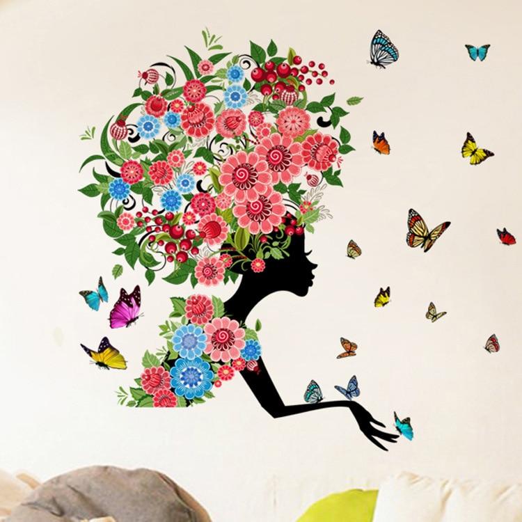 new 3d flower fairy pokemon girl kids rooms home decor wall