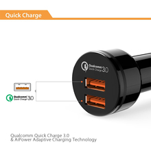CRDC Quick Charge 3.0 Car Charger dual Ports QC 3.0 USB Car Phone Charger for iPhone Xiaomi Samsung LG,same as Aukey car charger