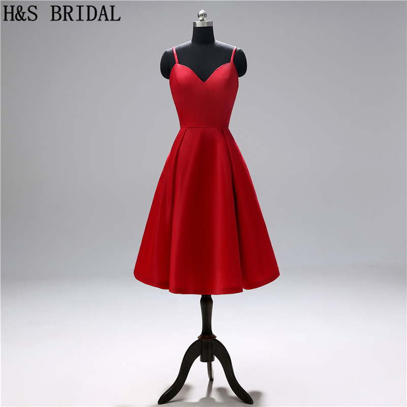H&S BRIDAL Red   Cocktail     Dresses   Simple elegant Short Prom   Dresses   robe   cocktail   dancing party   dress