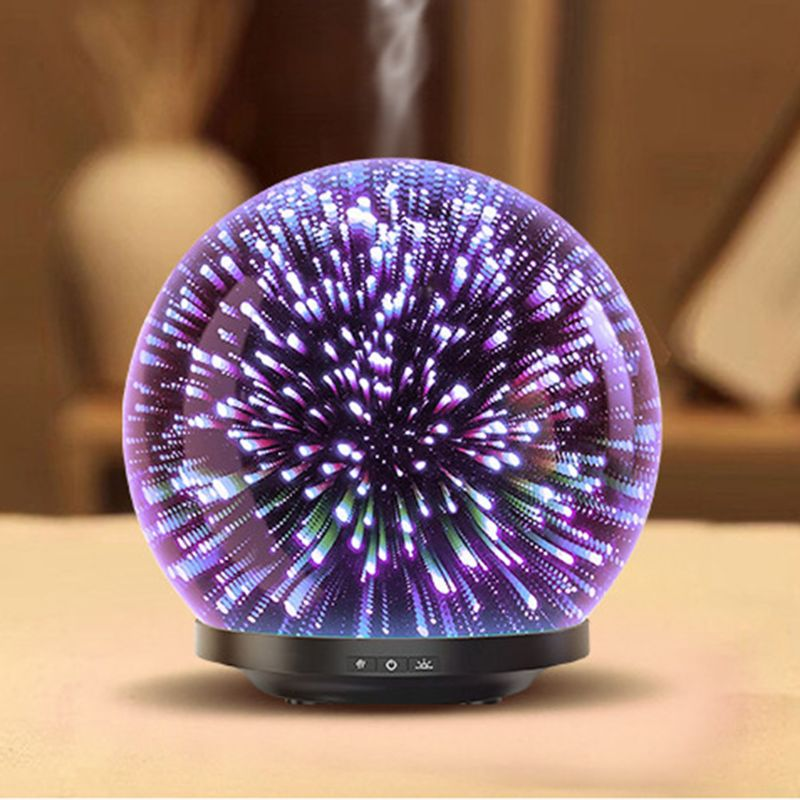 3D Glass Firework Night Light Ball Ultrasonic Essential Oil Diffuser Aroma Aromatherapy Fine Fog Humidifier Anti Slip Base Room3D Glass Firework Night Light Ball Ultrasonic Essential Oil Diffuser Aroma Aromatherapy Fine Fog Humidifier Anti Slip Base Room