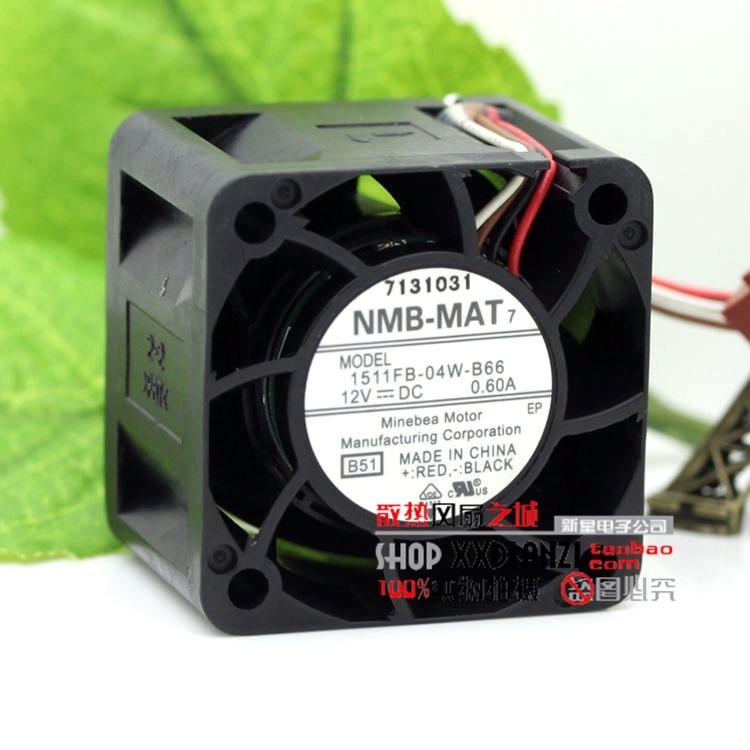 NMB 1511FB-04W-B66 4CM 40mm 4028 DC 12V 0.60A server cooling fan