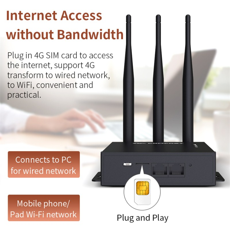 Plug play WiFi Router 4G Modem With SIM Card Slot Access Point 2 4G outdoor AP