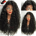 2016 Fashion Brazilian Kinky Curly Lace Front Human Hair Wigs Glueless Lace Front Human Hair Wigs With Baby Hair Kinky Curly Wig