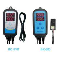 Inkbird Combo Set Pre-wired Dural Stage Humidity Controller IHC200 and Heating Cooling Timer Temperature Controller ITC-310T