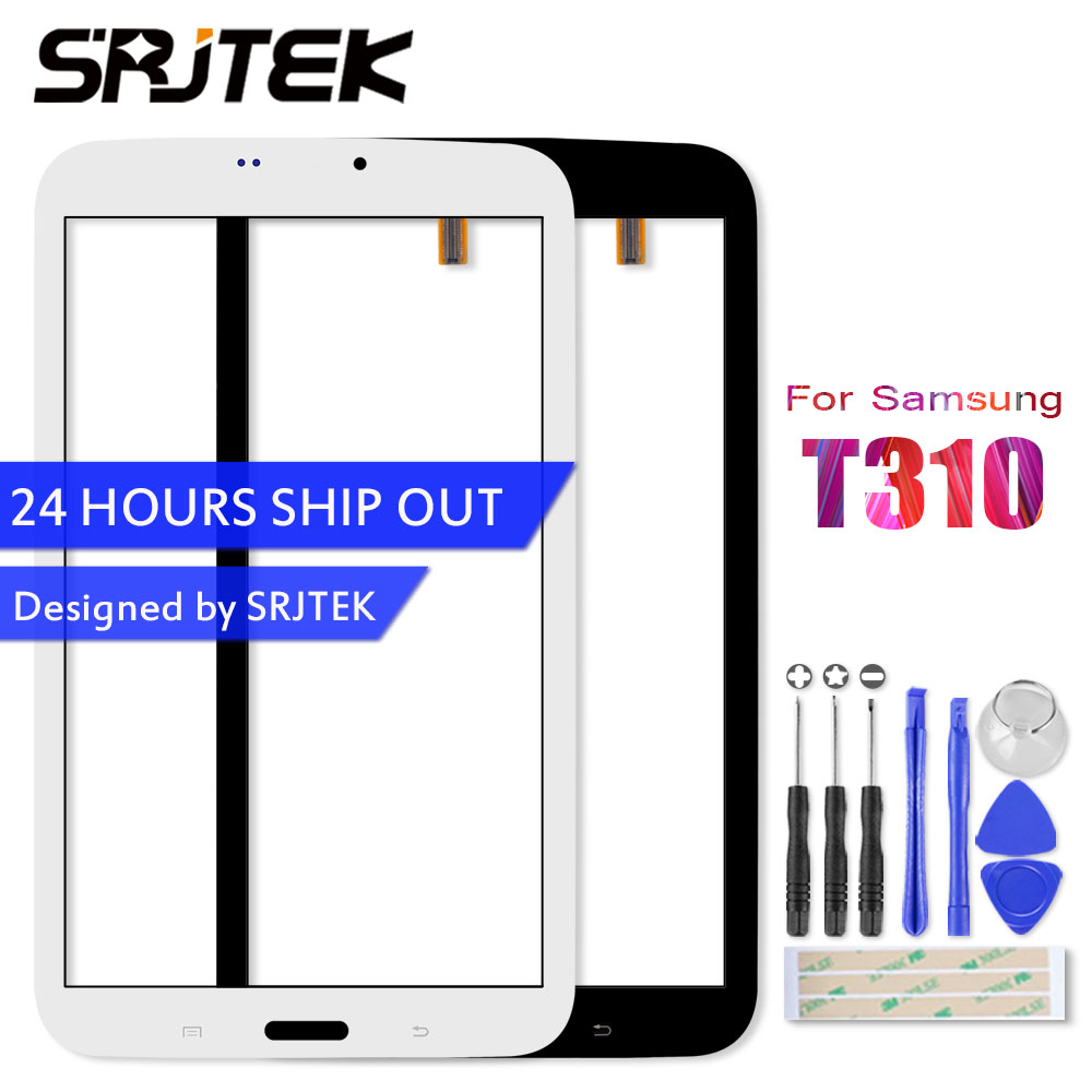 SRJTEK 8 Touchscreen For Samsung Galaxy Tab 3 8.0 T310 SM-T310 Touch Screen Digitizer Glass Sensor Tablet Pc Replacement Parts new 7 fpc fc70s786 02 fhx touch screen digitizer glass sensor replacement parts fpc fc70s786 00 fhx touchscreen free shipping