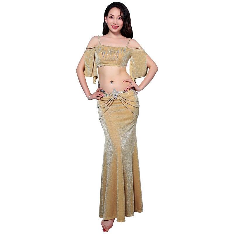 Bellydance oriental Belly Indian Egyptian eastern hair swinging baladi dance costumes clothes bra belt robe skirt dress set 3275