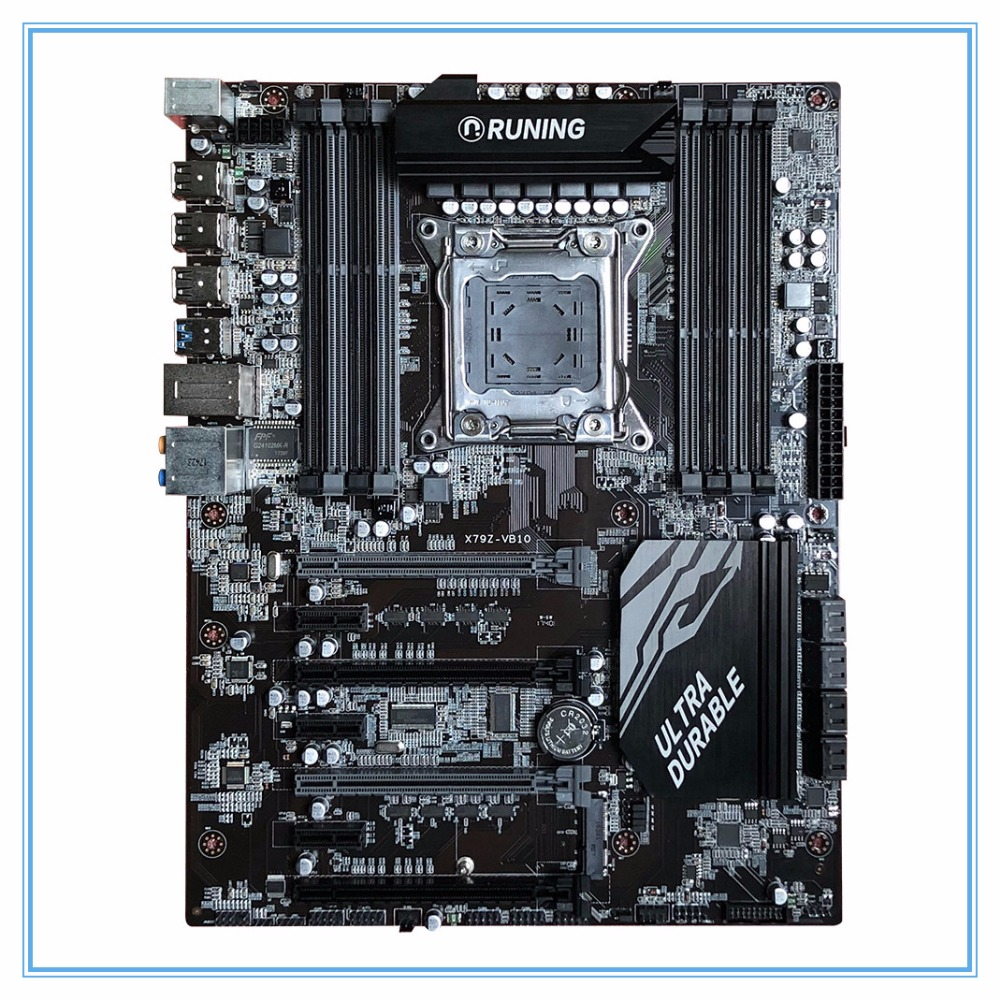 New X79 X79Z-VB10 Desktop Motherboard LGA 2011 DDR3/ECC 128G USB3.0 All-Solid ATX Mining Board mainboard