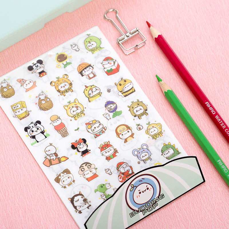 6 pcs/lot DIY Cute Kawaii PET Diary Stickers Cartoon Animal Decorative Paper Sticker For Photo Album Free Shipping 3406 pet great dane pet toys rare old styles dog lovely animal pets toys lot free shipping
