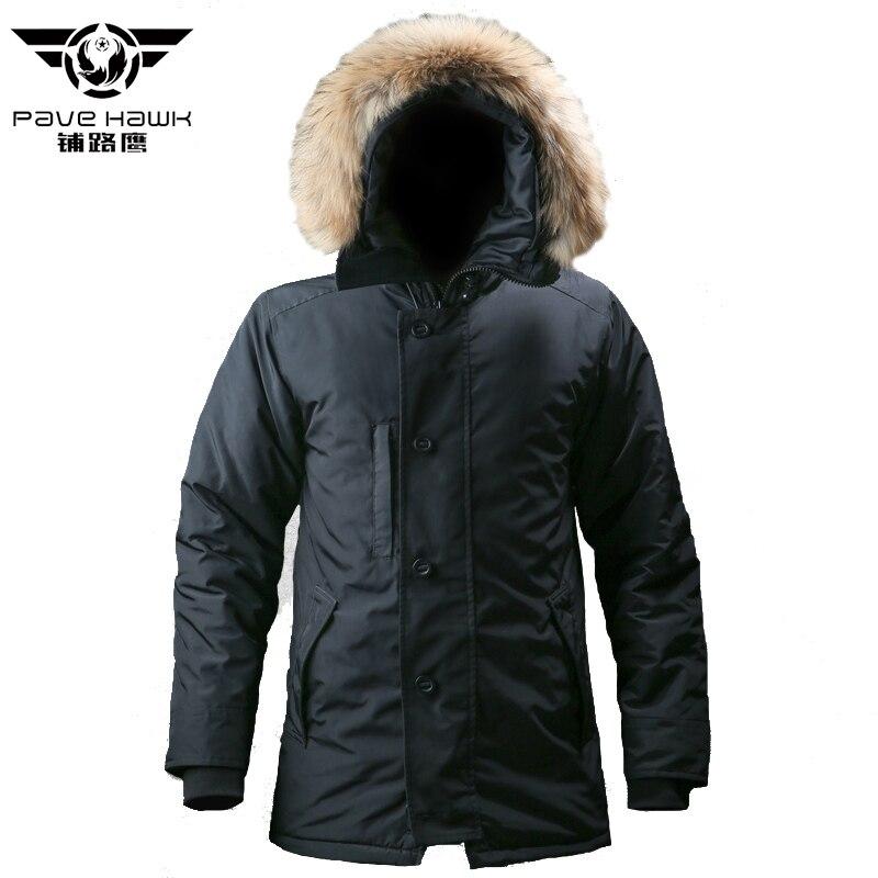 Eskimo col en fourrure ultraléger Parkas manteau hommes vestes d'hiver longue veste tactique vêtements d'extérieur décontractés armée militaire neige manteau chaud