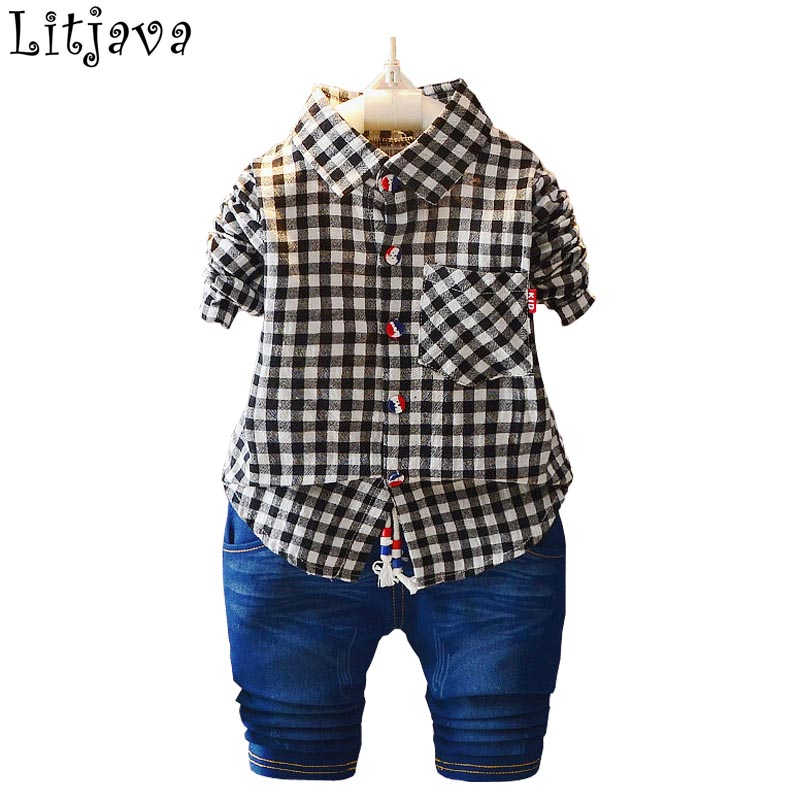 Flying Bear Cool New Born Bebes Clothes Spring Autumn Outfit Set for Baby Boy Plaid Long Sleeve Shirt+Pant 2PCS Suit for Party capella велосипед flying bear b 12 с 2 лет