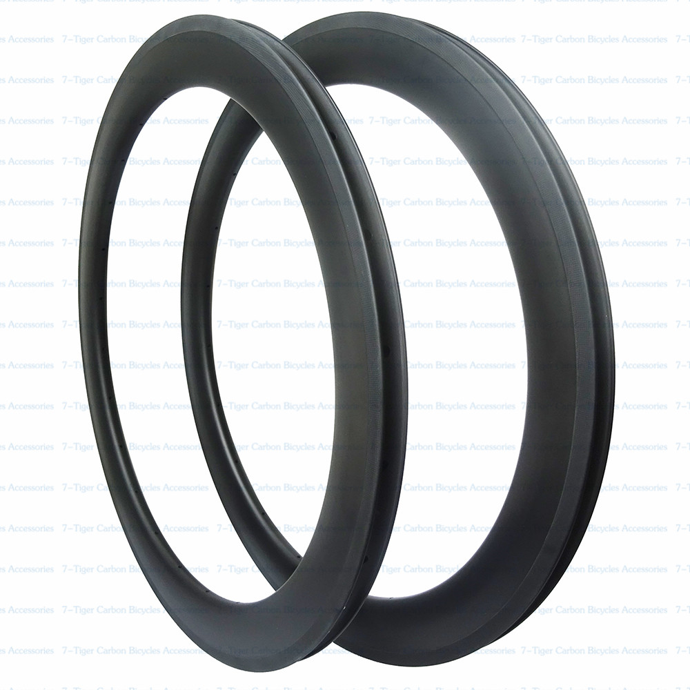Carbon Cycling Road Bike Clincher Wheel <font><b>Rim</b></font> 60mm (Basalt Brake Side) wheelset 3k/ud/12k matt front 20h rear <font><b>24h</b></font> image
