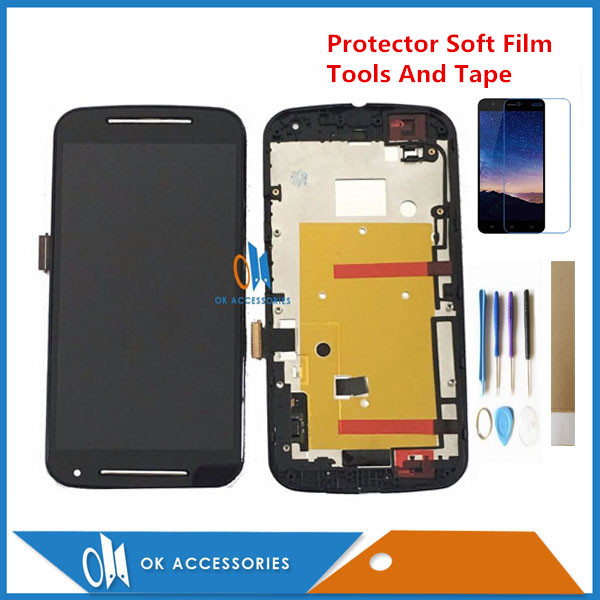 Black Color <font><b>Display</b></font> For <font><b>Motorola</b></font> MOTO G2 <font><b>XT1068</b></font> XT1069 XT1063 LCD <font><b>Display</b></font> Touch Screen Digtizer With Frame With Kits image