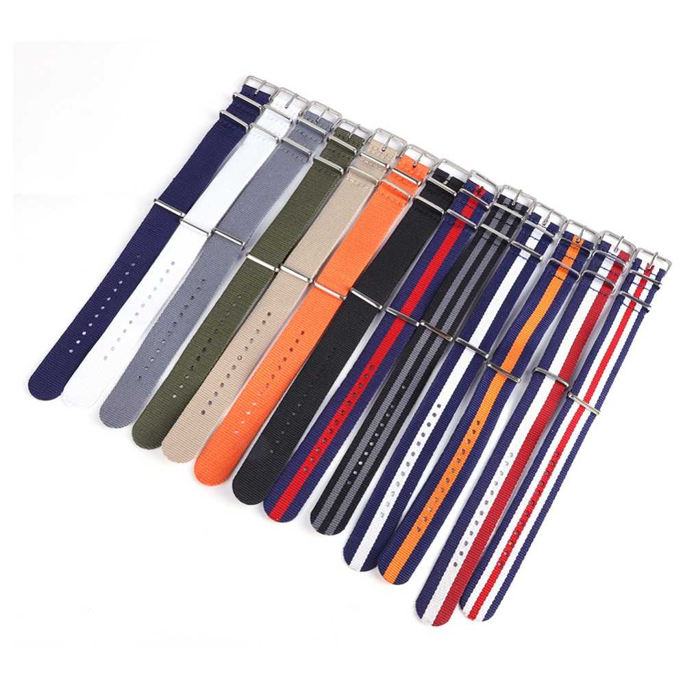 18 20 22mm Army Sports Fabric Nylon Watchband Bands