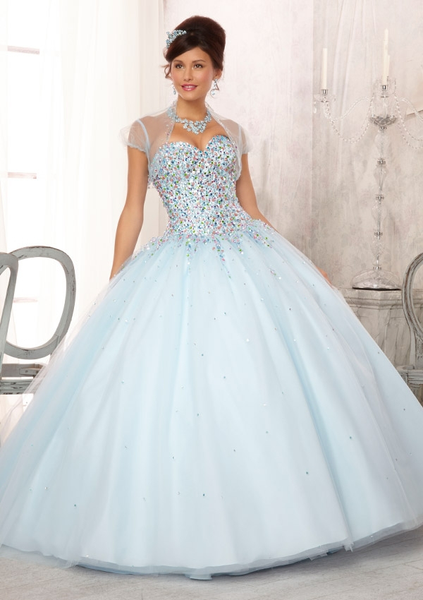 3c5df801bf8 Lace Up Back Sweet Light Sky Blue Color Cheap Quinceanera Dresses With  Jacket 2016 For 15 Year Tulle vestidos de quinceanera-in Quinceanera  Dresses from ...