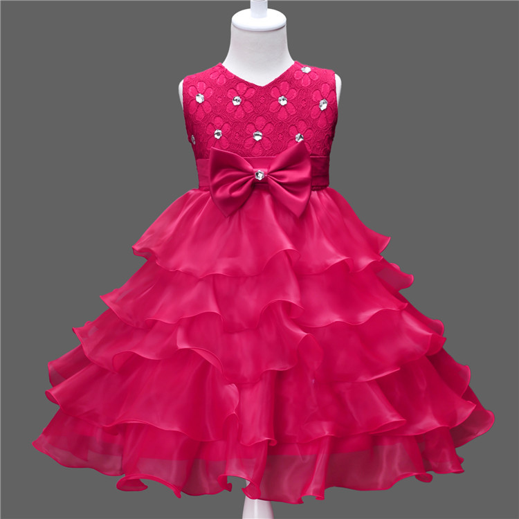 Подробнее о Summer Formal Kids Dress For Girls 2017 Princess Wedding Party Dresses Girl Clothes 3 - 10 Y Dress Bridesmaid Children Clothing new girls dress children clothing petals hem toddler girl dresses wedding formal party princess dress kids clothes for 3 8 yrs