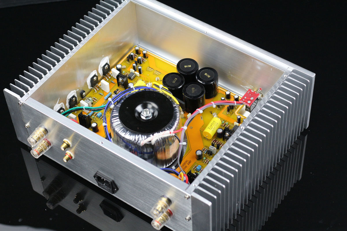 Finished Hifi stereo Power amplifier ON NJW0281G//NJW0302G AMP  150W+150W    L6-5
