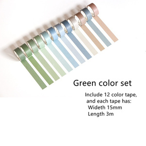 Image 4 - 4 set/Lot Vintage decoration purple green color masking tape 7.5mm 15mm washi tapes stickers for diary album Stationery A6073