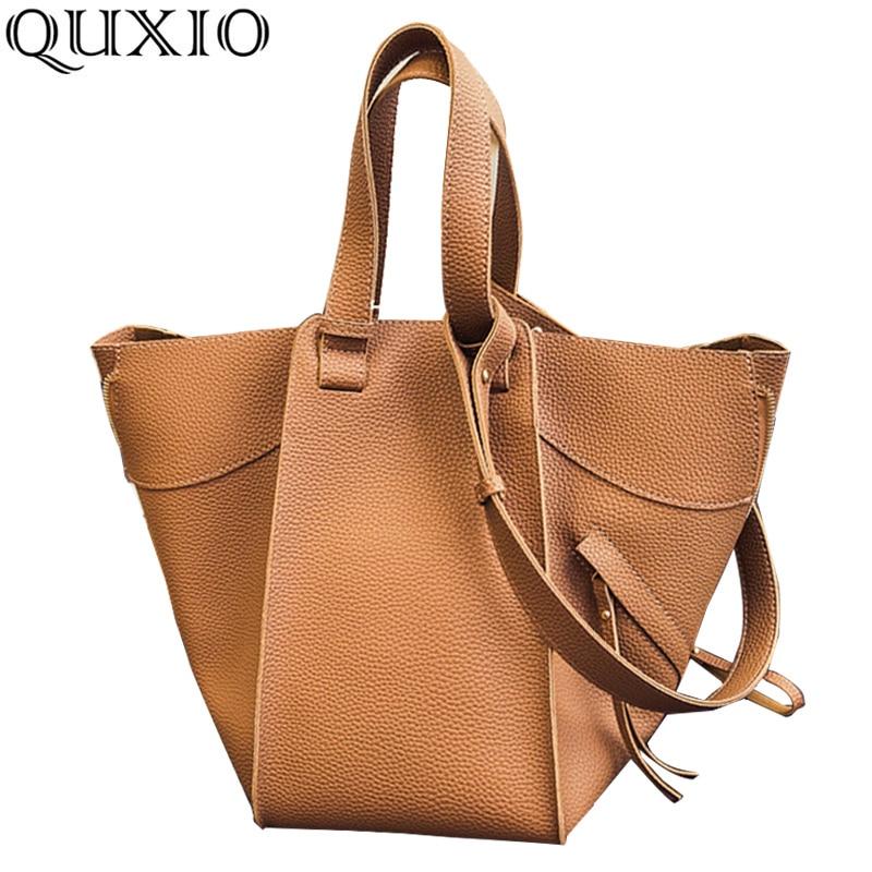 2/Pcs Casual Women Handbag Lichee Pattern Ladies PU Leather Bags Deformation Composite Shoulder Female Bags Large Hobos WJL01