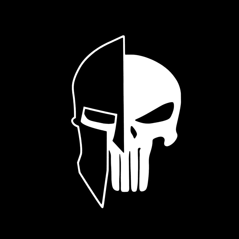 HotMeiNi 15x10cm Labe,spartan,punisher,come And Take It,#2a,guns,vinyl Car Sticker For Car Window Black/Sliver