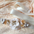 Elagant Floral Bridal Sashes 2017 Newest Flowers Beaded Wedding Party Bridesmaid Dress Belts Bridal Belts Accessories
