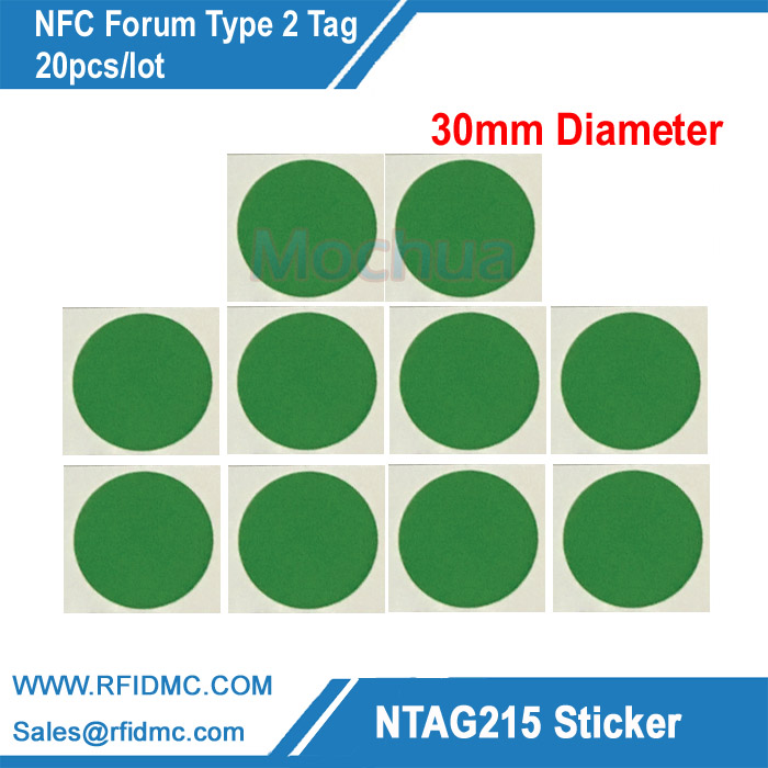 20pcs NTAG215 Label NFC NTAG215 Tag For Tagmo with color printing