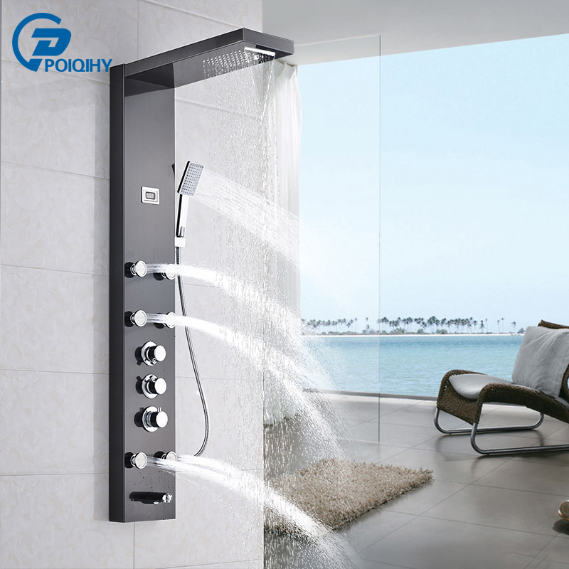 Shower Equipment Bathroom Fixtures Bright 2017 Real Robinet Shower Panel Micoe For Thermostatic Shower Set Hot And Cold Mixed Faucet Bathroom Three Function Nozzle