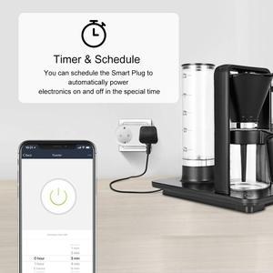 Image 4 - Alexa Tương Thích 2 Trong 1 WiFi Ổ Cắm 16A Tiêu Chuẩn EU Giám Sát Điện Năng Tuya Ứng Dụng Điều Khiển Từ Xa Thông Minh Ổ Cắm Làm Việc Với google Home