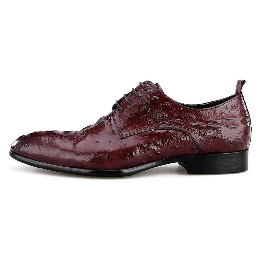 Luxury Genuine Leather Mens Footwear Pointed Toe Alligator Man Wedding Party Flats Formal Dress Designer Male Derby Shoes BQL89