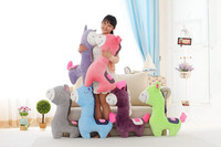free shipping,cartoon colourful horse plush toy sleeping pillow ,Christmas gift h263