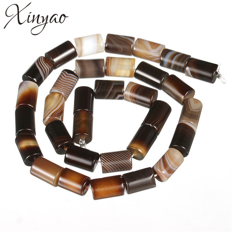 XINYAO 30pcs/lot 8*12mm Natural Tibet Agates Beads Loose Spacer Beads For Diy Jewelry Making Bracelet Necklace Findings F5410