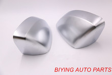 1 Pair For A3 S3 8V Matt Chrome Silver Mirror Case Rearview Cover Shell