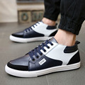 2015 spring/autumn boots men fashion shoes ankle boots 3color patchwork sport boarding shoes men high top PU shoes freeshipping