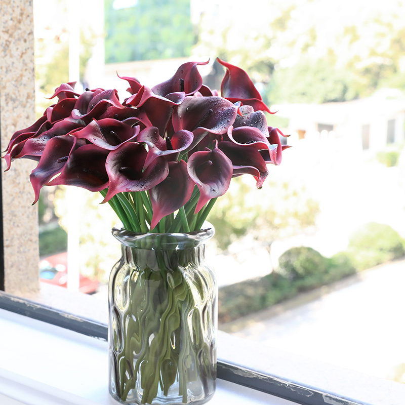 AliExpress & US $14.0 30% OFF|31 Pieces Calla Lily PU Real Touch Decorative Vase Artificial Flower Fake flower lifelike flowers bud Decorating hotel-in Artificial ...