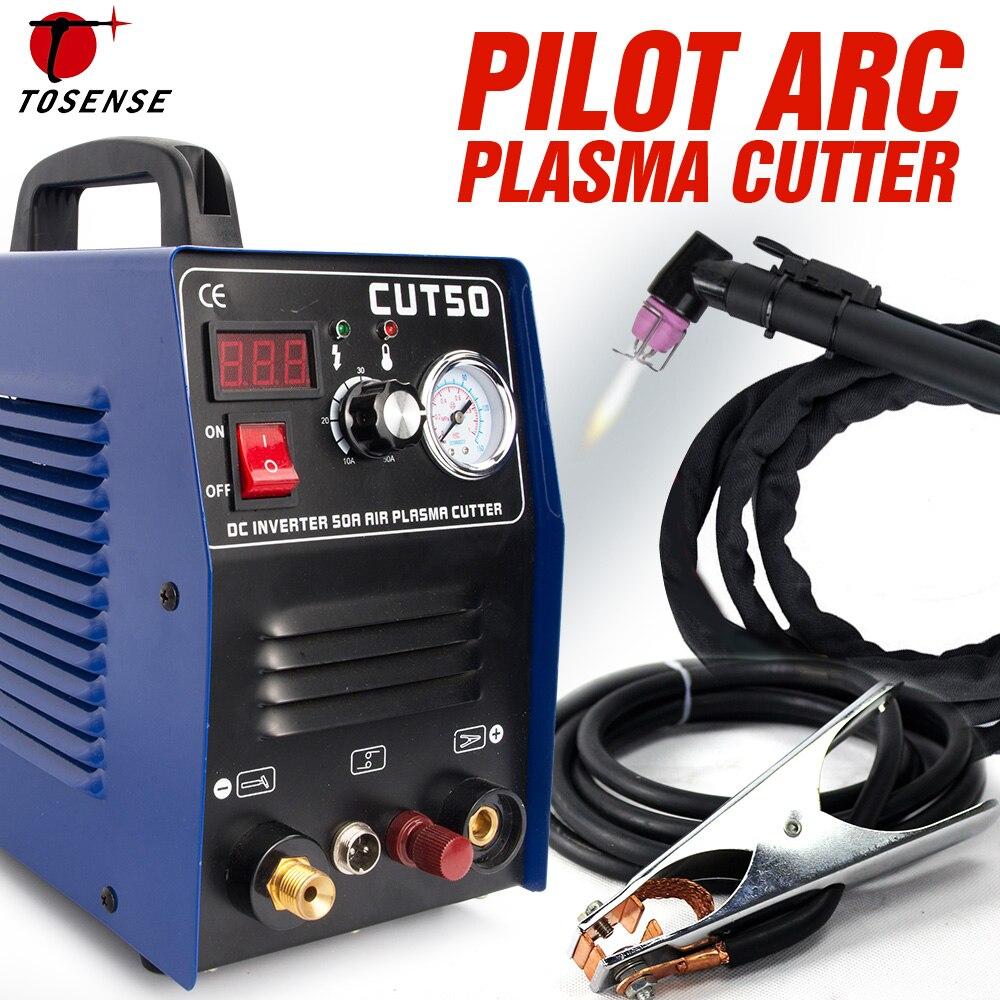 Découpeuse de Plasma de coupeur de Plasma d'arc pilote 220 V 50A IGBT HF fonctionnent avec le CNC