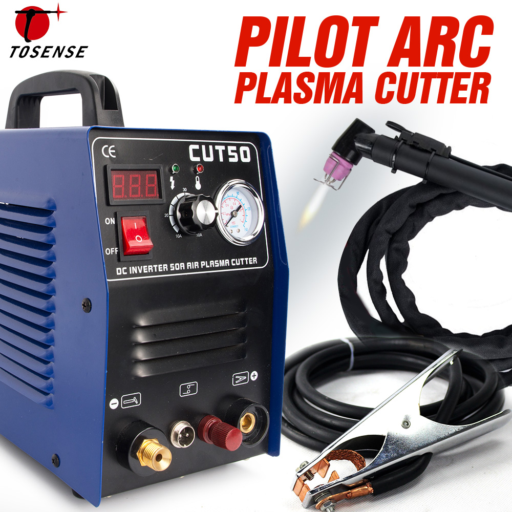 Pilot Arc Plasma Cutter Plasma Cutting Machine 220V 50A IGBT HF Work with CNC