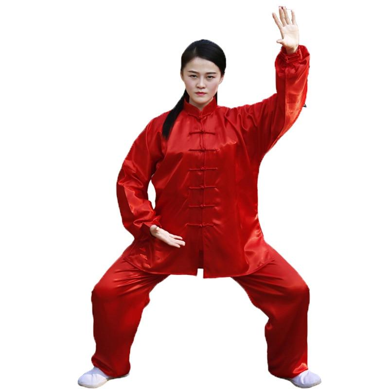 Unisex Wushu Clothing Martial Arts Faux Kung Fu Suit Men Tai Chi Uniform Taijiquan Costume Wing Chun Wushu Performance Clothing