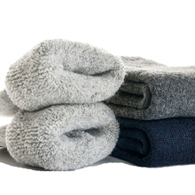 2016 High Quality Socks Big Size Super Thick Men's Wool Socks Winter Thermal Warm Socks Comfortable Casual Men Socks Size 39-45