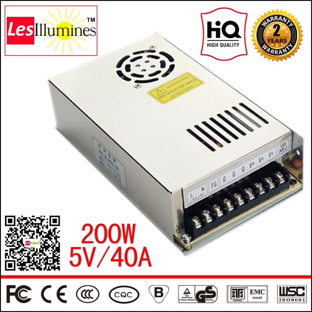 AC-DC 120V 220V To 5V Module SMPS AC DC LED Strip Light Voltage Regulator 5V LED Driver CE Switching 200W Power Supply 5 V 40A 200w switching power supply nes 200 5 5v 40a smps ce approved for led driver