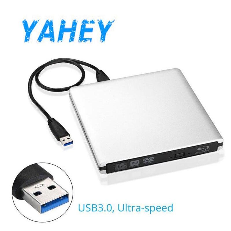 USB 3.0 Bluray ārējais optiskais diskdzinis 3D atskaņotājs BD-RE degļa ierakstītājs DVD +/- RW DVD-RAM dators + piedziņas ieliktņa somiņa soma