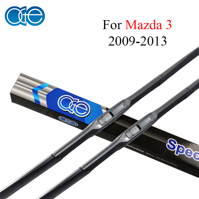 Oge Wiper Blades For Mazda 3 2009 2010 2011 2012 2013 High-Quality Natural Rubber Car <font><b>Accessories</b></font>