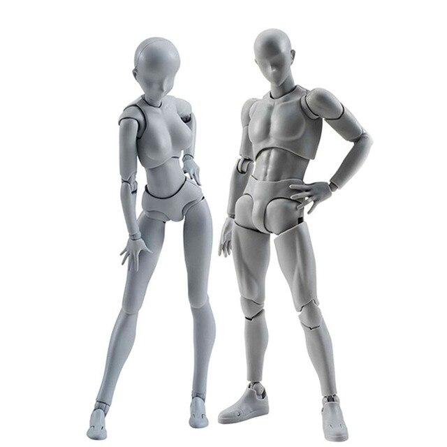 1 piezas artista móvil miembros hombre mujer de juguete arte conjunto de modelo de cuerpo maniquí bjd dibujo dibujar figuras de acción juguetes de colección