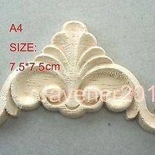 A4-7.5x7.5cm Деревянные Резные углу накладка аппликация Неокрашенный Рамки дверь наклейка рабочих плотник цветок