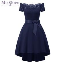 Новинка, короткое вечернее платье с открытыми плечами, кружевные атласные платья, официальное вечернее платье, vestido de festa, темно-синие бордовые платья для выпускного вечера