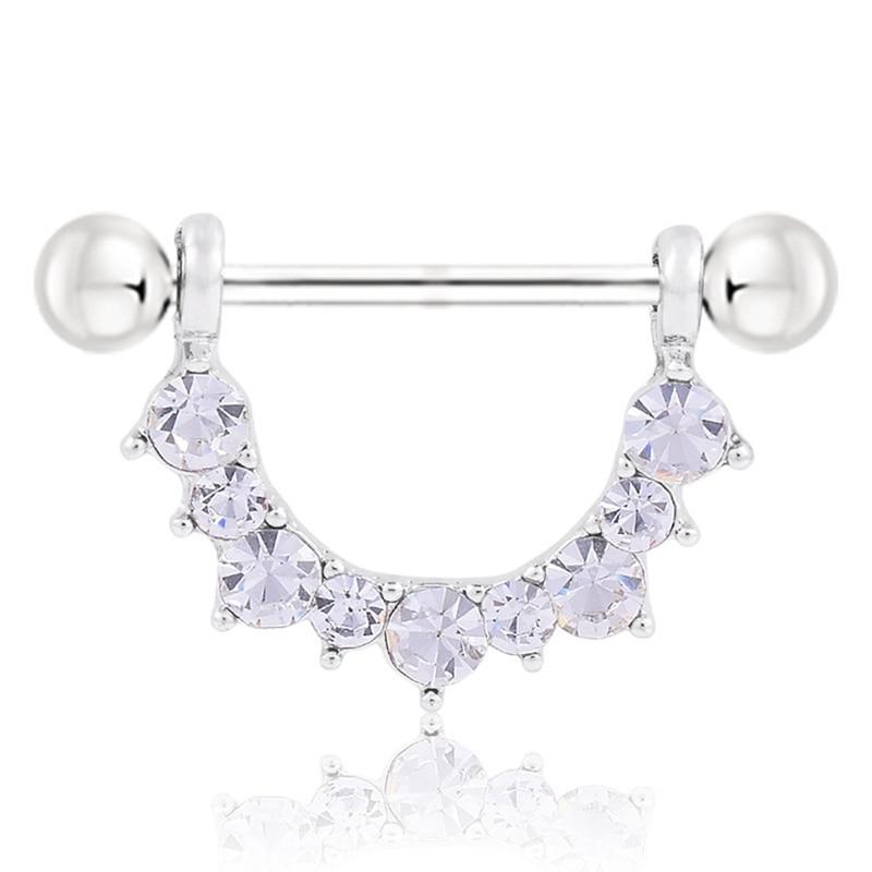 Steel Piercing Silver-Color U-Shape New-Arrival for Woman Men